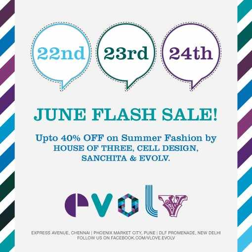 Flash sale upto 40 off on summer fashion by sanchita for Flash sale sites for home