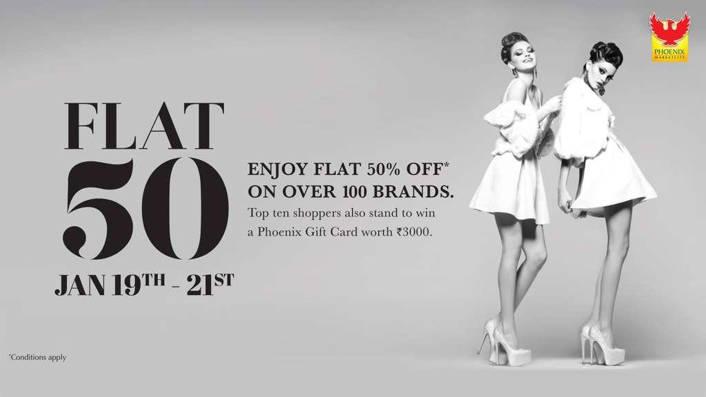 Flat 50 Off On Over 100 Brands At Phoenix Marketcity Chennai Events In Chennai Mallsmarket Com