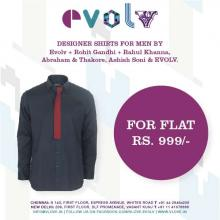 Evolv Weekend Surprise - Designer shirts for men at Flat Rs.999 at Express Avenue, Chennai