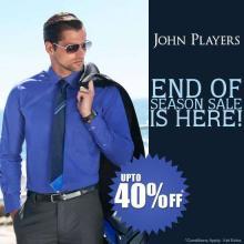 John Players End Of Season Sale, Upto 40% off