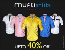 Mufti Summer 13 End of Season Sale, Upto 40% off, 4 July 2013, Exclusive Mufti Outlets