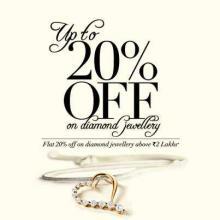 Up To 20% off on Diamond Jewellery at Tanishq. Flat 20% off on Diamond Jewellery above Rs.2 Lakhs*