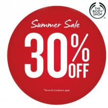 The Body Shop Summer Sale, Up to 30% off