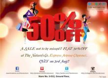 One Day Sale, Flat 50% off, The Nature's Co, Express Avenue, Chennai, 3 August 2013