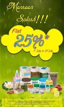 The Nature's Co Monsoon Splash, Flat 25% off* from 1 to 31 July 2013