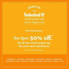 Timberland End Of Season Sale, Get upto 50% off, 27 June to 4 August 2013