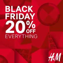 H&M Black Friday Deals - Get 20% off on everything!  23rd - 25th November 2018