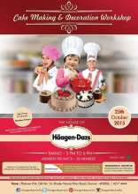 Cake Making & Decoration Workshop for Kids at Haagen Dazs Chennai on 25 October 2015
